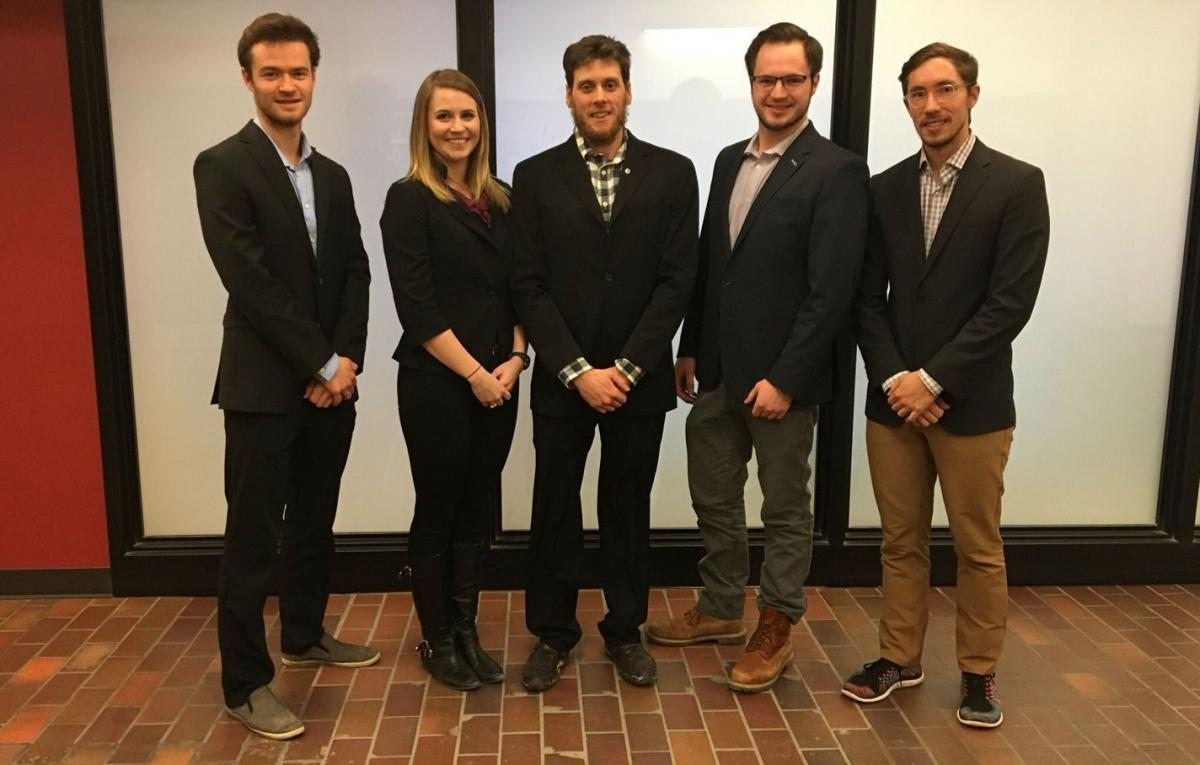 The proud OCGC team. From left to right: Curran Wearmouth, Stephanie Roussel, Dylan Cochrane, Matthew Braun and Tyler Billington.